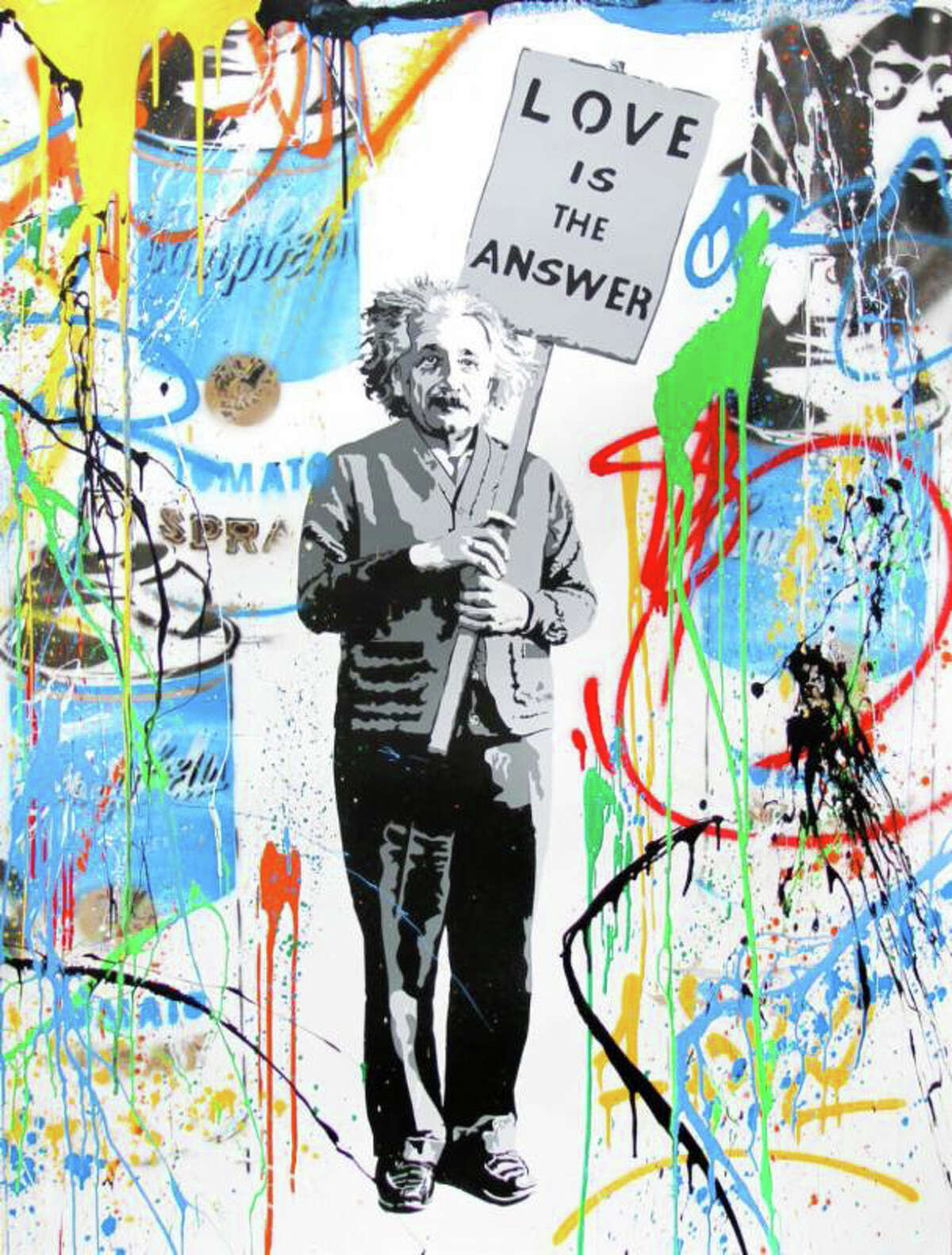 Mr. Brainwash often copies Andy Warhol and other Pop icons.