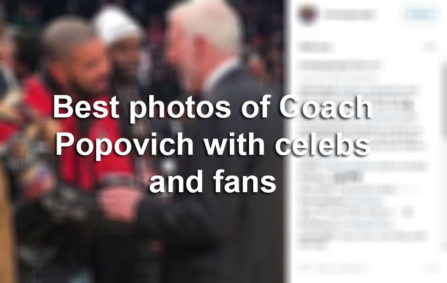 Keep clicking to see the photos of Spurs Coach Gregg Popovich with celebrities and fans. Photo: Mysa