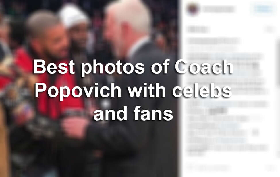 Keep clicking to see the photos of Spurs Coach Gregg Popovich with celebrities and fans.