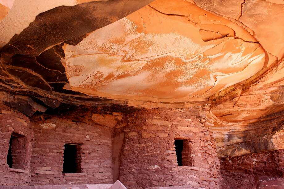 The Fallen Roof granaries inside the Bears Ears National Monument were constructed more than 800 years ago and still contain a dried corn cob. Maize accounted for roughly 80 percent of the ancestral Pueblo diet. MUST CREDIT: Washington Post photo by Juliet Eilperin Photo: The Washington Post