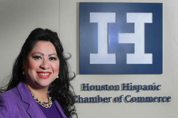 Dr. Laura Murillo, the president and CEO of the Houston Hispanic Chamber of Commerce photographed  Monday, April 24, 2017, in Houston. The chamber is celebrating its 40th anniversary on Wednesday as well as Murillo's 10 year tenure as its leader. ( Steve Gonzales  / Houston Chronicle )