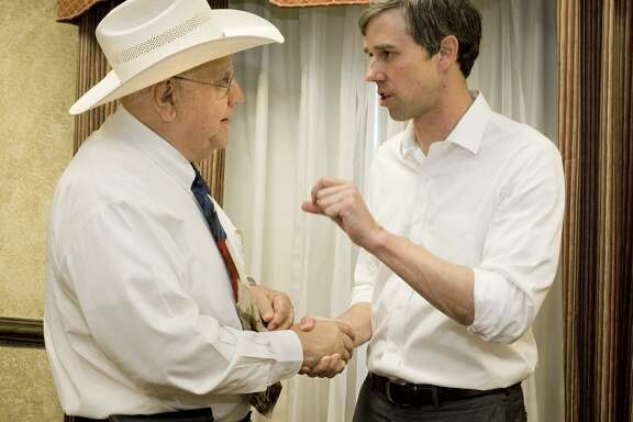 Congressman Beto O'Rourke (right) meets with supporters in Laredo to discuss his campaign for U.S. Senate against Ted Cruz. A reader says that while she does know much about O'Rourke, she finds him more genuine than Cruz.