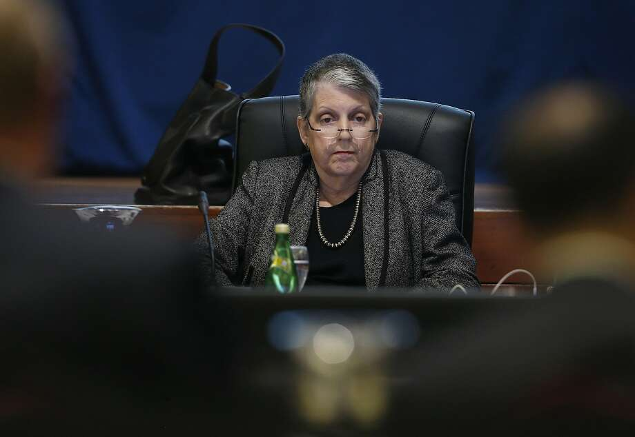UC President Janet Napolitano will face questions from legislators after a state audit found that her office had squirreled away $175 million, then raised student tuition. Photo: Paul Chinn, The Chronicle