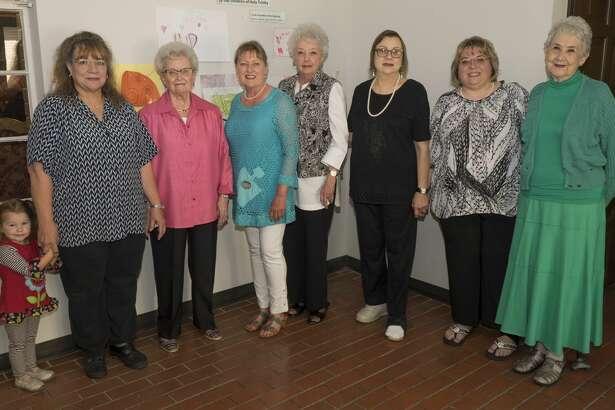 Midland Memorial Hospital volunteers are honored for their time; Lelah Barrett, Fran Dawson, Emma Wilkes, Donna Newsom, Donna Clark, Laurie Barrett and Lu Ingram. 04-24-17 Tim Fischer/Reporter-Telegram