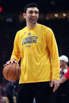 Golden State Warriors' Zaza Pachulia before playing Portland Trail Blazers in Game 4 of NBA Western Conference 1st Round Playoffs at Moda Center in Portland, Oregon on Monday, April 24, 2017.