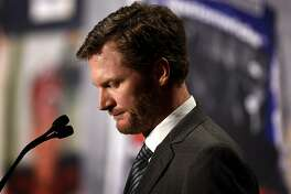 NASCAR driver Dale Earnhardt Jr. announces his retirement at the end of the 2017 season on Tuesday, April 25, 2017 in Concord, N.C. (Jeff Siner/Charlotte Observer/TNS)