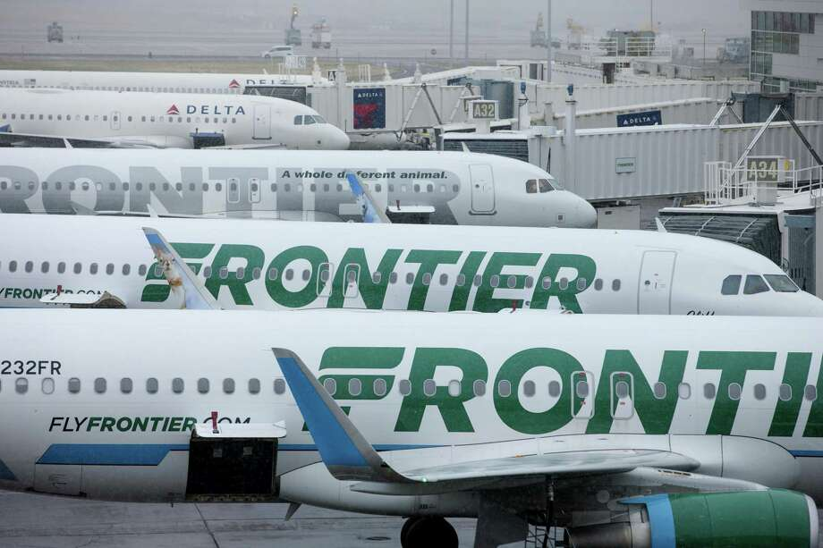 Frontier Airlines will begin flying passengers on three year-round, nonstop routes to New Orleans, Phoenix and San Diego that leave San Antonio at least three times a week in October. Introductory fares start at $39. Photo: Matthew Staver /Bloomberg / © 2017 Bloomberg Finance LP