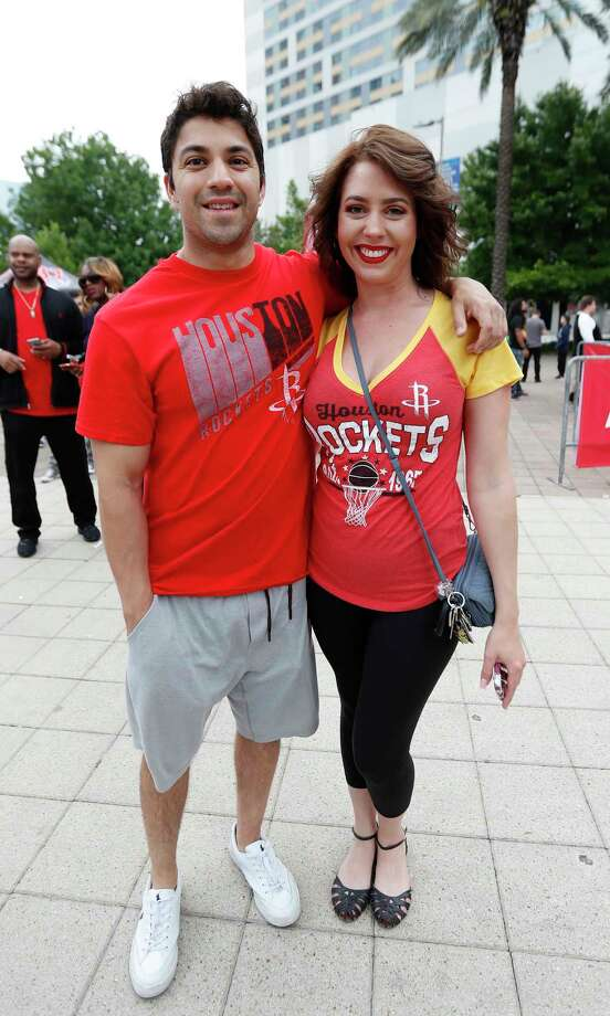 PHOTOS: Take a look at the Rockets fans outside Toyota Center before Tuesday night's Game 5Fans wait to get into the Toyota Center before the start of Game 5 of a Western Conference quarterfinals of the 2017 NBA playoffs, April 24, 2017, in Houston. Photo: Karen Warren, Houston Chronicle / 2017 Houston Chronicle
