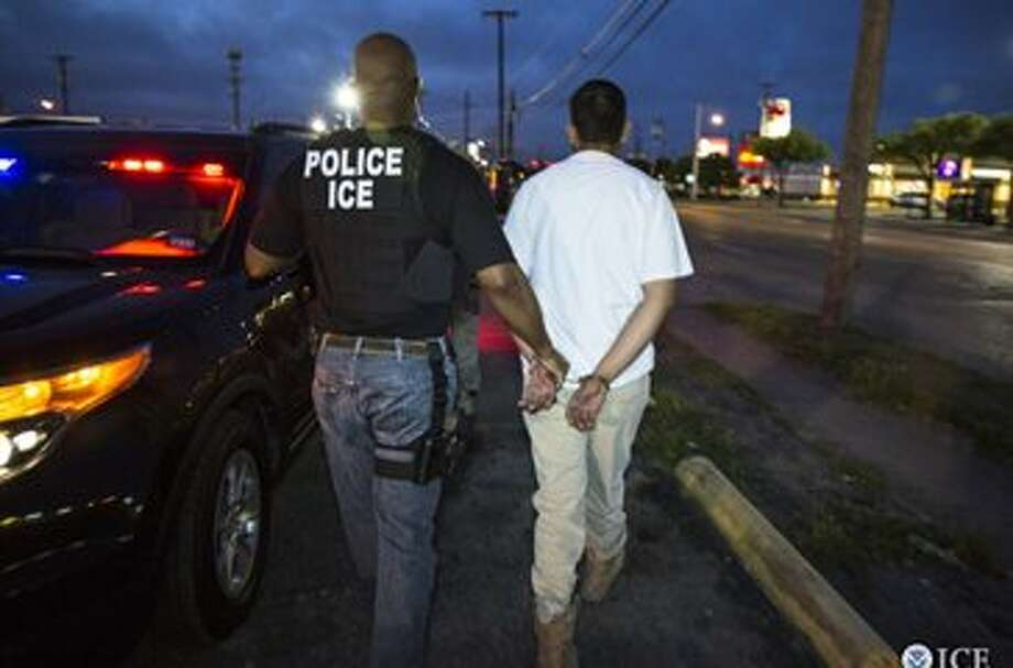 Federal officers from U.S. Immigration and Customs Enforcement's (ICE) Enforcement and Removal Operations (ERO) arrested 95.>>See both sides of the Texas-Mexico border. Photo: ICE