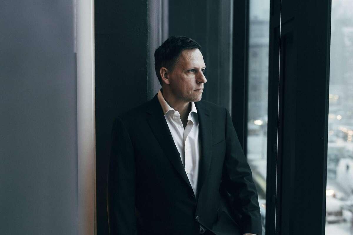 Peter Thiel in his condo in Manhattan, Jan. 7, 2017.