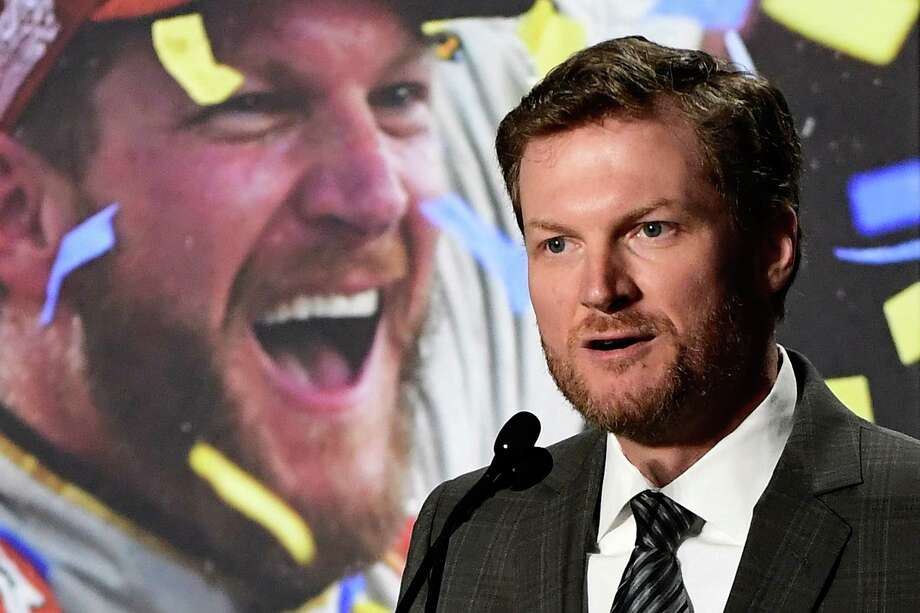 Dale Earnhardt Jr.'s past and future collided at his retirement announcement Tuesday. Photo: Mike Comer, Stringer / 2017 Getty Images