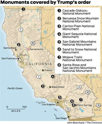 National monuments under siege by Trump include 8 in ...