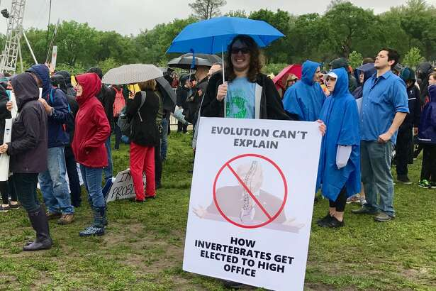 Another participant in the March for Science in Washington D.C. on Saturday who was defiantly not worried about the march being seen as too political.