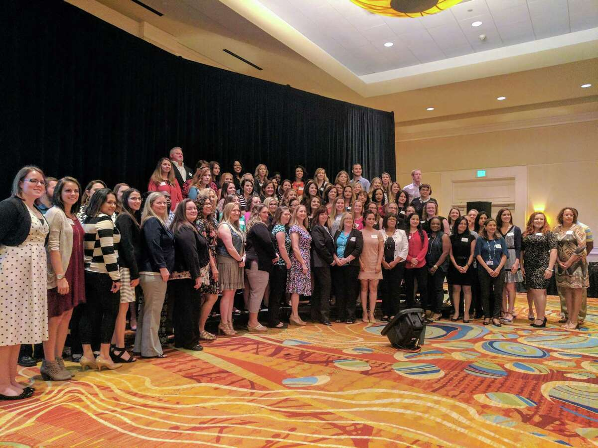 A record-breaking amount of CISD employees were awarded $1,000 scholarships during the 11th annual Education Foundation Scholarship Breakfast on Thursday, April 20 at The Woodlands Waterway Marriott. The Education Foundation awarded scholarships to a total of 141 continuing education recipients, special education and bilingual paraprofessional recipients.