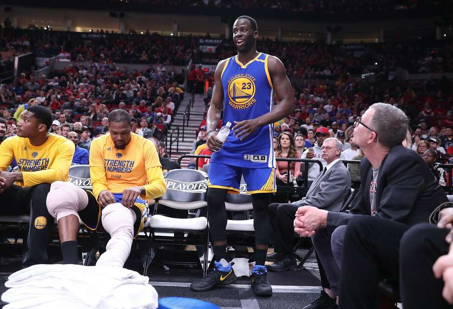 Golden State Warriors' Draymond Green against Portland Trail Blazers in Game 4 of NBA Western Conference 1st Round Playoffs at Moda Center in Portland, Oregon on Monday, April 24, 2017. Photo: Scott Strazzante, The Chronicle