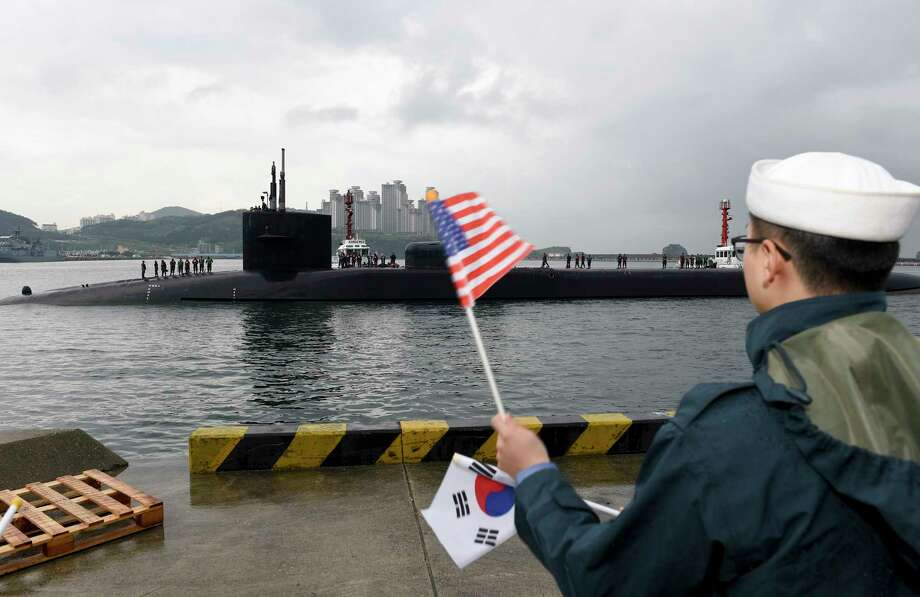 On Monday, the Ohio-class guided-missile submarine USS Michigan arrived in Busan, South Korea, for a scheduled port visit to rest the crew and load supplies. Photo: Mass Communication Specialist 2nd Class Jermaine Ralliford, HOGP / U.S. Navy