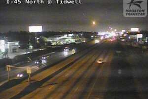 All northbound main lanes along I-45 north just before Tidwell.