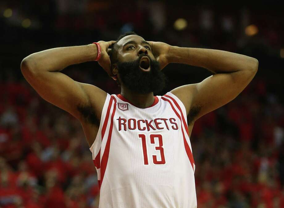 Rockets guard James Harden was named one of three finalists for the NBA Most Valuable Player of the Year award on Friday. Photo: Karen Warren, Houston Chronicle / 2017 Houston Chronicle
