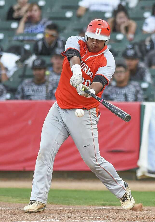 Omar Cervantes was one of four Longhorns with multiple hits Friday in an 11-8 loss to Southwest in Eagle Pass in a seeding game. Photo: Danny Zaragoza /Laredo Morning Times File