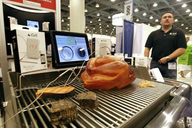 An iDevices iGrill demo in January 2011 at Macworld in San Francisco. On April 25, 2017, Shelton, Conn.-based Hubbell announced its acquisition of Avon, Conn.-based iDevices. Photographer: Tony Avelar/Bloomberg