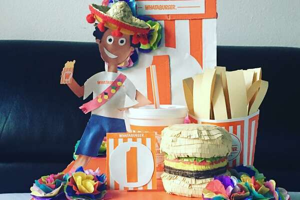 """Chicken'N Fries"" Whataburger float by Ivan Jr."
