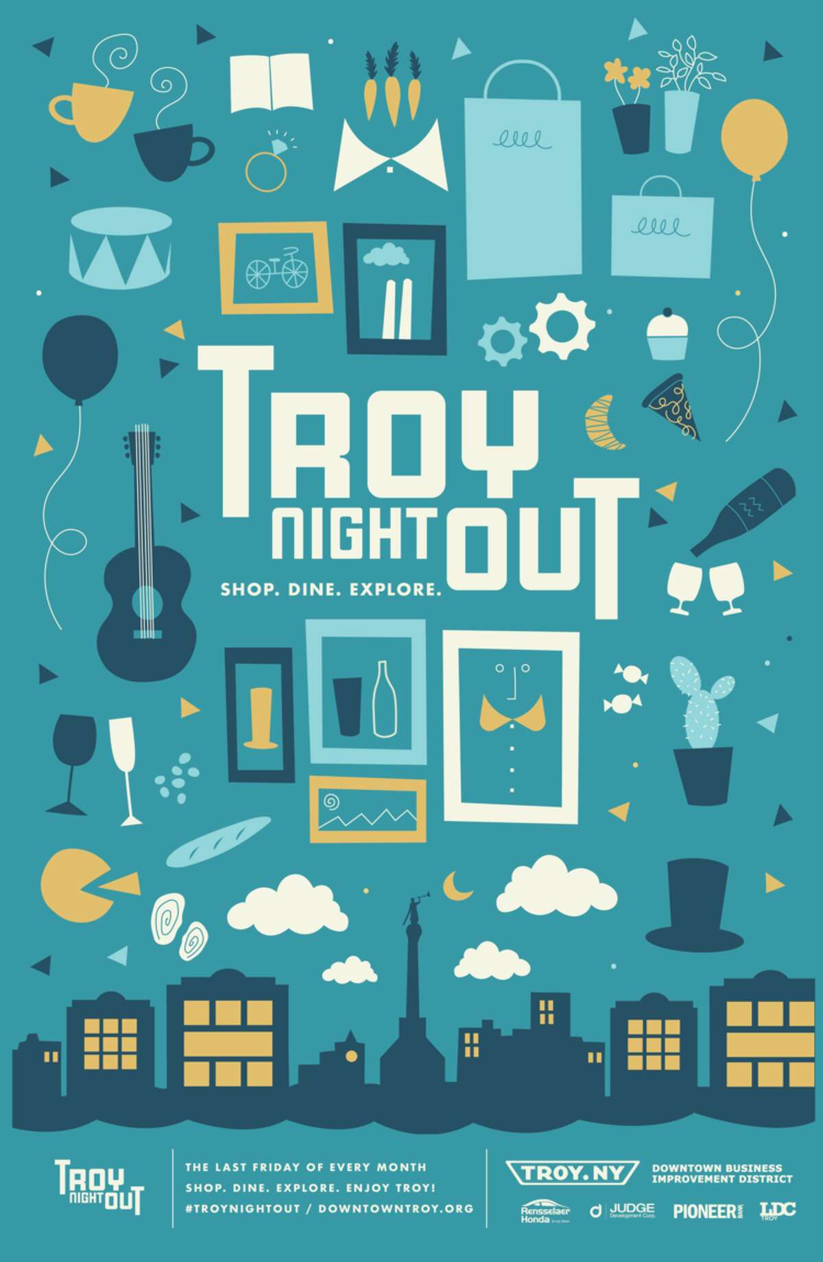 Troy Night Out is a monthly arts and cultural event that takes place the last Friday of every month. Attendees are able to enjoy art events, music venues and special offers at fine restaurants and unique boutiques and shops. This month's theme is Family Day. For the full list of events and special deals, click here. When: Friday, May 26, 5 - 9 PM. Where:Downtown Troy.