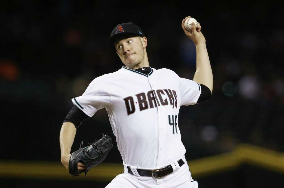 Arizona Diamondbacks' Patrick Corbin throws a pitch against the San Diego Padres during the fifth inning of a baseball game Tuesday, April 25, 2017, in Phoenix. Yale University study shows that throwing is an incredibly complex act and, more often than not, involves a trade-off between speed and accuracy.(AP Photo/Ross D. Franklin) Photo: Ross D. Franklin / Associated Press / Copyright 2017 The Associated Press. All rights reserved.