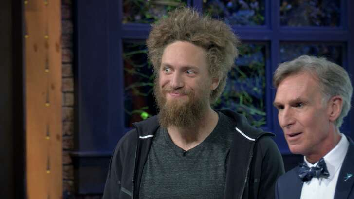 """Hunter Pence appears on an episode of """"Bill Nye Saves the World' on Netflix."""