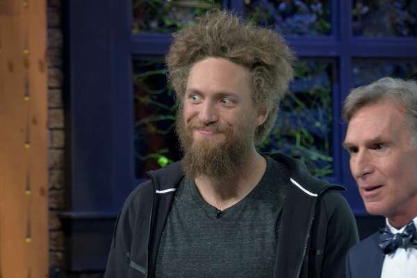 "Hunter Pence appears on an episode of ""Bill Nye Saves the World' on Netflix."