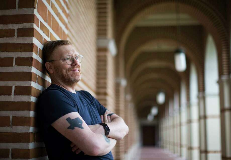 Jon Gnarr, an Icelandic comedian and the former mayor of Reykjavik, is spending the spring semester in Houston, completing a dual residency at Rice and the University of Houston. Photo: Marie D. De Jesus, Staff / © 2017 Houston Chronicle