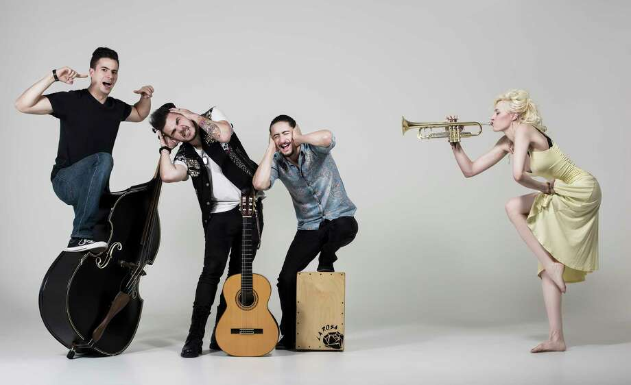Jenny and the Mexicats perform Thursday at Fitzgerald's. Photo: ER:M&M