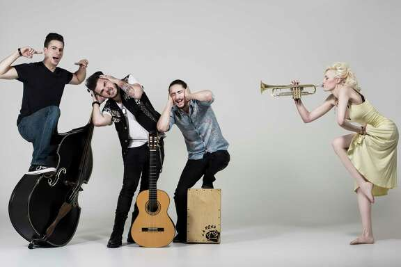Jenny and the Mexicats perform Thursday at Fitzgerald's.