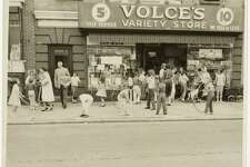 Volce's Variety Store, Lark Street, Albany  Unidentified photographer  1960s  Gelatin silver photographic print  Albany Institute of History & Art, gift of Michael Buonora, no. 367