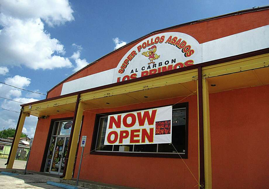 Super Pollos Asados Los Primos: 2426 Culebra Road, San Antonio, TX 78228Date: 10/30/2017 Score: 71Highlights: Inspector observed floor drain clogged, sewage coming from the drain onto the floor; rodent feces seen on storage room floor; employee seen switching tasks without changing gloves; poisonous/toxic materials must be properly labeled; poisonous/toxic materials seen stored near food prep area; consumer advisory for consumption of animal foods must be provided to customer; prepared foods must be labeled with expiration date; single-use cups and lids seen stored on patio. Photo: Mike Sutter /San Antonio Express-News