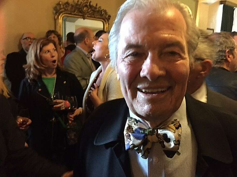 "Jacques Pepin at showing of ""American Masters"" tribute to him Photo: Leah Garchik, San Francisco Chronicle"