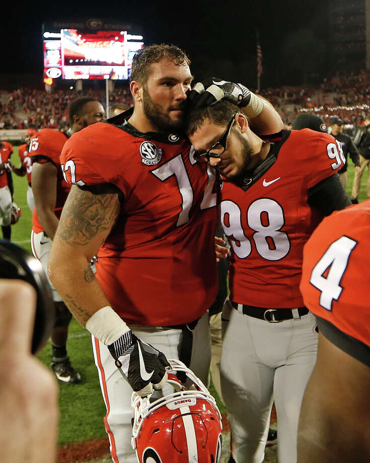 Georgia offensive lineman Tyler Catalina has been contacted by the Texans ahead of this week's NFL Draft. Photo: John Bazemore, Associated Press / Copyright 2016 The Associated Press. All rights reserved.