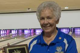 Patsy Wallin, being inducted into the Midland United States Bowling Congress Hall of Fame. 4/26/17 Tim Fischer/Reporter-Telegram