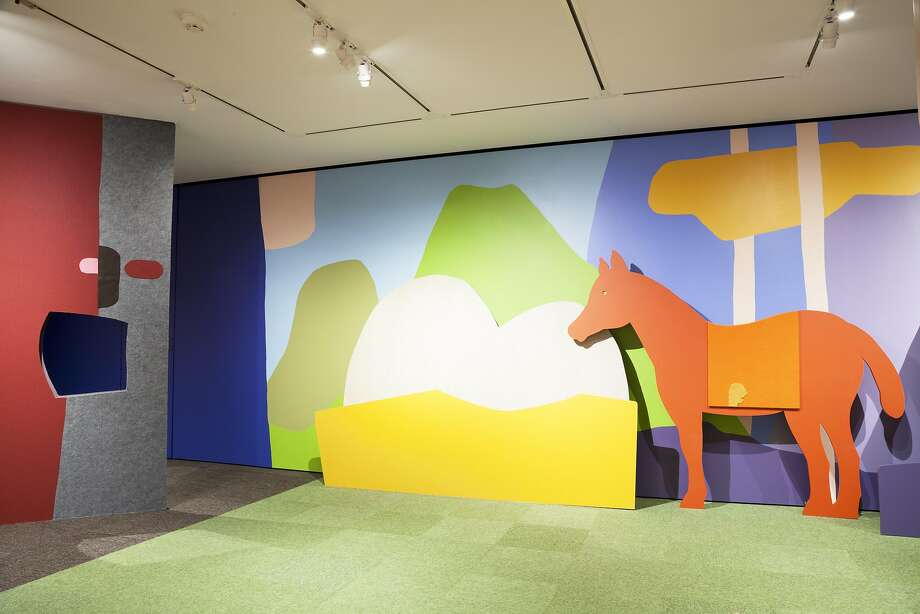 "A family activity room takes a central place in ""Of Dogs and Other People: The Art of Roy De Forest"" at the Oakland Museum of California. Photo: Courtesy Oakland Museum Of California"