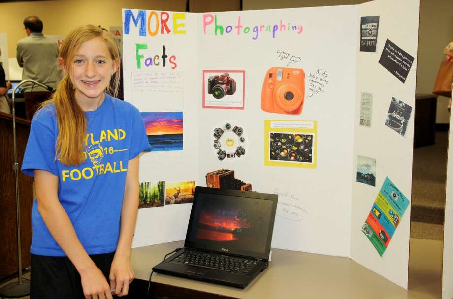 Fifth grade student Gracie Murphree shared her love for photography during the Passion Project showcase presented by students in Plainview ISD's advanced academic services.