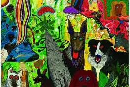 """Roy De Forest, """"Country Dog Gentlemen"""" (1972)"""