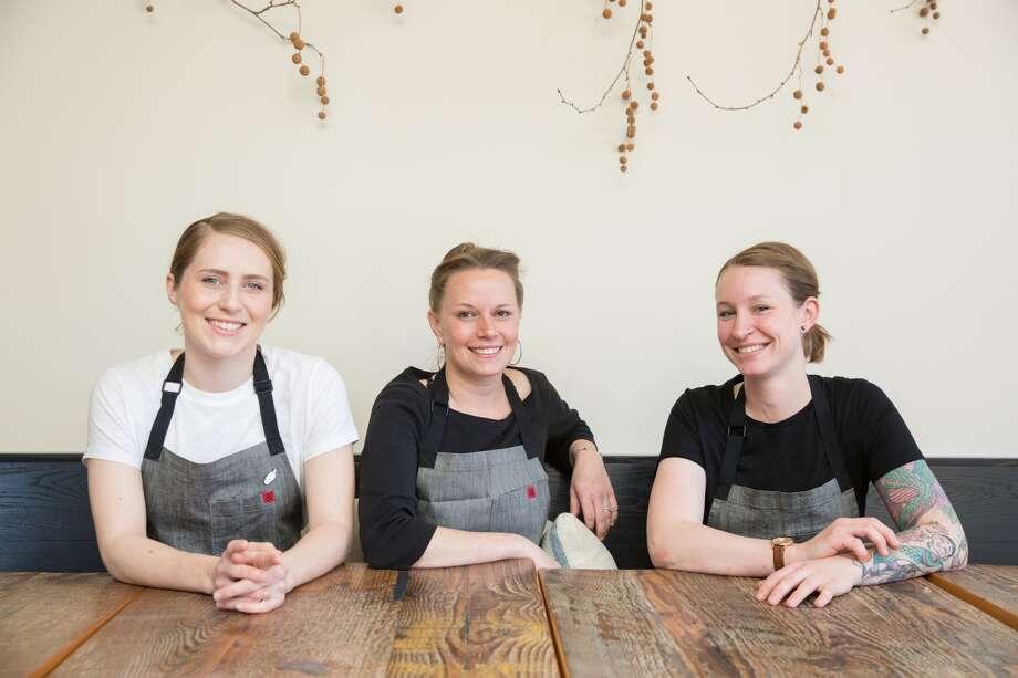 The Octavia crew: pastry chef Sarah Bonar, chef-owner Melissa Perello and new chef de cuisine Sara Hauman. Photo: Grace Sager