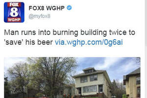 A South Dakota man was arrested April 23, 2017, after he allegedly ran back into this burning multi-family residence to get two cans of beer, according to published reports, via  twitter .