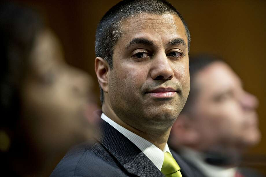 "Ajit Pai, the FCC's new Republican chairman, seen March 8, called the legislation that passed the House today ""appropriate"" and blamed his predecessor for executive overreach. MUST CREDIT: Bloomberg photo by Andrew Harrer Photo: Andrew Harrer, Bloomberg"