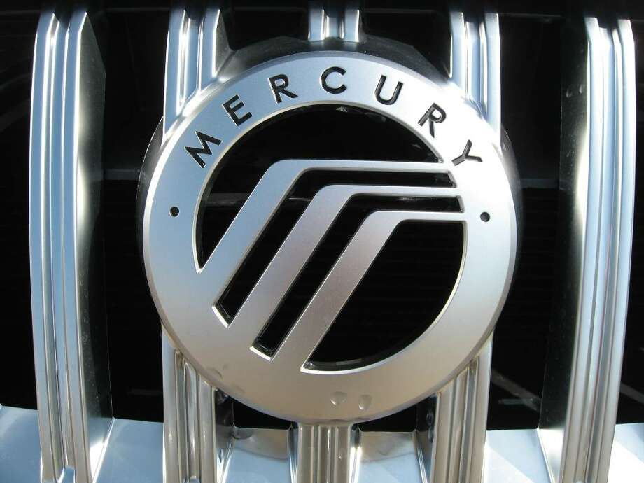 "The Mercury ""waterfall"" or ""hockey stick"" logo that the brand has been using since the late-1980s. Its first logo was Mercury, the messenger of the gods in Roman mythology; he was also the god of commerce and travel. Photo: John Burgeson / Connecticut Post"
