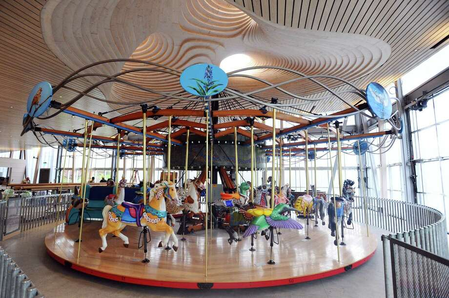 The carousel in Mill River Park is nearly finished and will be open to the public on May 13. Photographed inside the new Brownstein Selkowitz Pavilion at Mill River Park in downtown Stamford, Conn. on Tuesday, April 25, 2017. Photo: Michael Cummo / Hearst Connecticut Media / Stamford Advocate