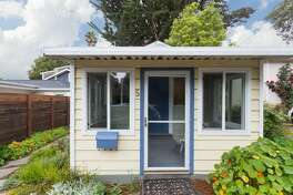 Tiny house living dreams come true in this bright, sunny 524-square-foot cottage with one bedroom and one bathroom at 5 Mesa Ave. on the market for $649,000.   Listed by  Lynn Reid of McGuire Real Estate