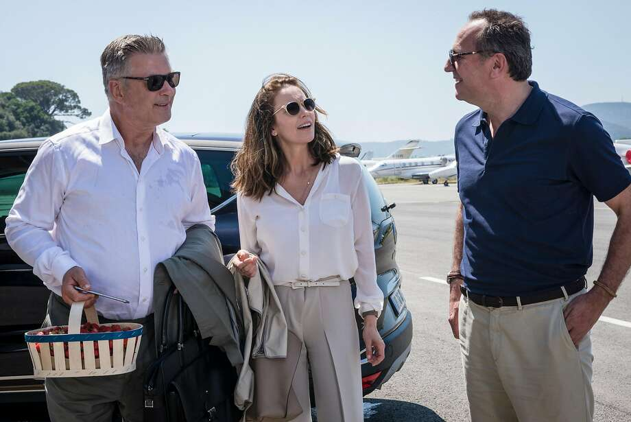 """(l to r) Alec Baldwin as Michael Lockwood, Diane Lane as Anne Lockwood and Arnaud Viard as Jacques Clement in the new movie """"Paris Can Wait,"""" directed by Eleanor Coppola.  Photo by Eric Caro / Courtesy of Sony Pictures Classics Photo: Eric Caro / Courtesy Of Sony Pictures Classics"""