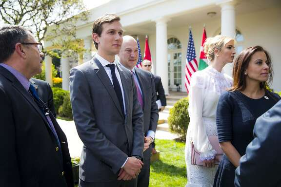 FILE � Jared Kushner, Donald Trump�s son-in-law and senior adviser, attends a news conference in the Rose Garden, at the White House in Washington, April 5, 2017. The Kushner family�s real estate empire grew in 2012 with millions from Israel�s Steinmetz family, whose patriarch is under scrutiny for bribery and money laundering in four separate countries. (Doug Mills/The New York Times)