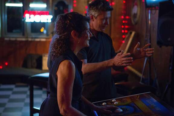 "Mary, Winger, with Robert, Aiden Gillen, her affair which she leaves for her husband in ""The Lovers.""  Photo by Robb Rosenfeld, courtesy of A24"