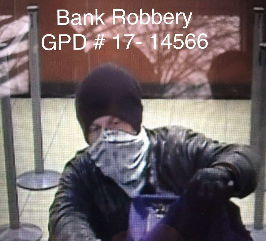 A security camera photo of the thief who robbed the Chase bank at 1150 E Putnam Ave. Wednesday. Photo: /